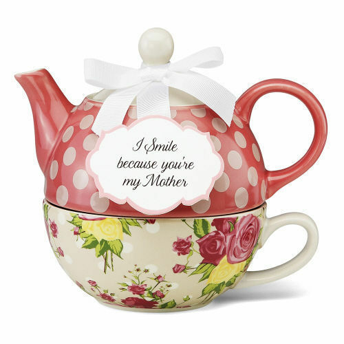 pavilion gift tea for one set stacked teapot cup autumn rose by jessie steele ebay. Black Bedroom Furniture Sets. Home Design Ideas