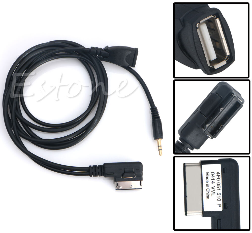 for audi a3 a5 s5 ami mdi car music interface usb charger aux audio cable ebay. Black Bedroom Furniture Sets. Home Design Ideas