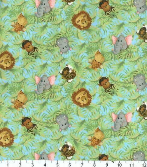 Monkey fabric by the half yard bthy jungle babies patty for Nursery monkey fabric