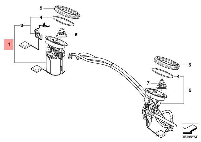 genuine bmw e87 e90 e91 e92 fuel pump   level sensor