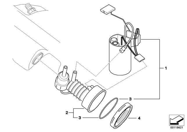 Genuine Bmw Z4 E85 Fuel Filter Pressure Regulator Repair Kit Oem