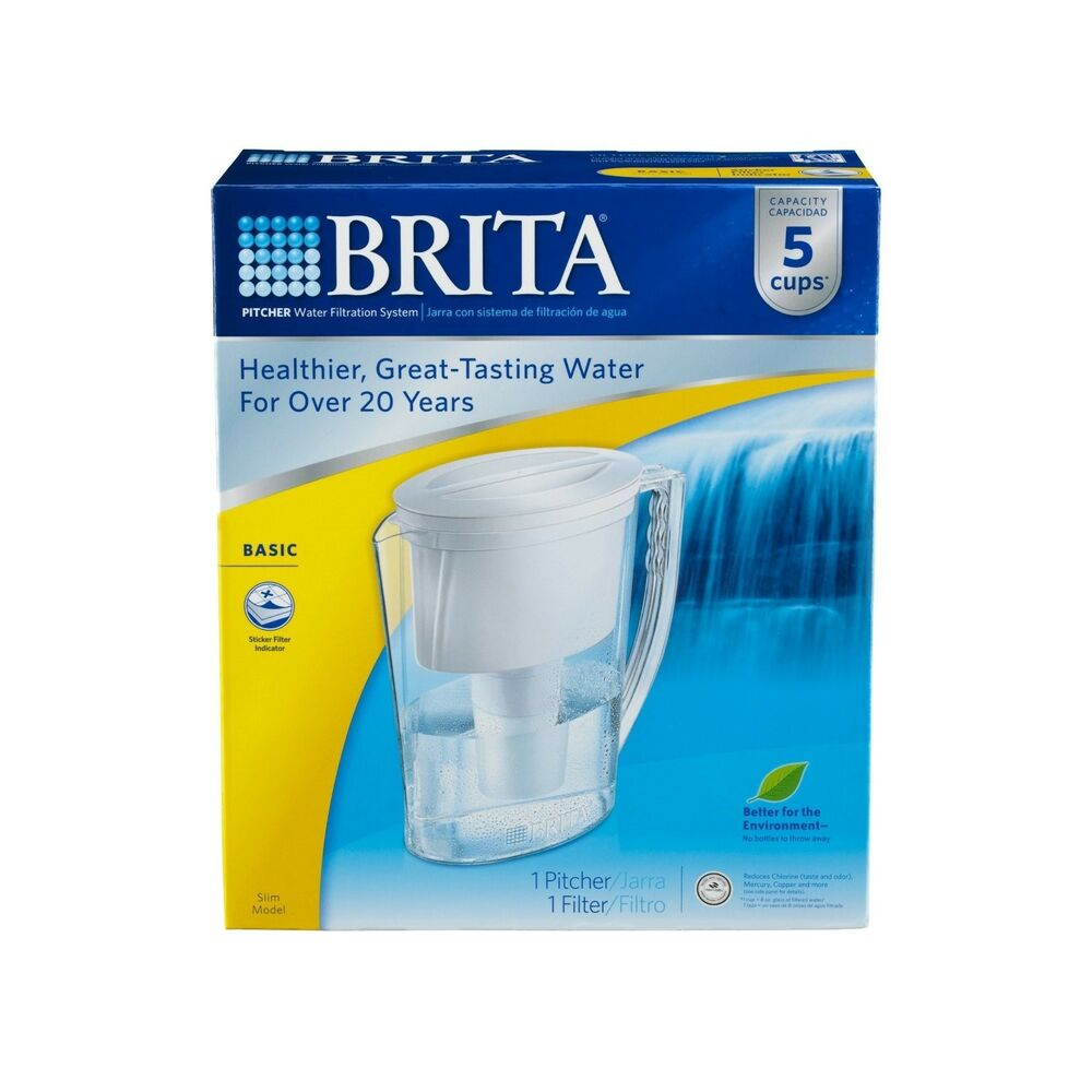 brita 42629 water filteration purifier slim pitcher with. Black Bedroom Furniture Sets. Home Design Ideas