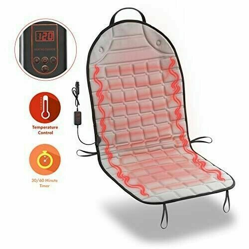 zone tech thickening heated car seat heater chair cushion warmer cover 12v pad ebay. Black Bedroom Furniture Sets. Home Design Ideas