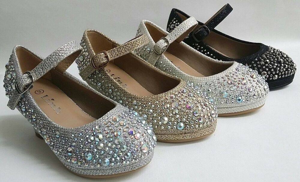 Wedding Heels With Rhinestones: NEW Girls LINK Dana58K WEDDING PAGEANT Platform Rhinestone