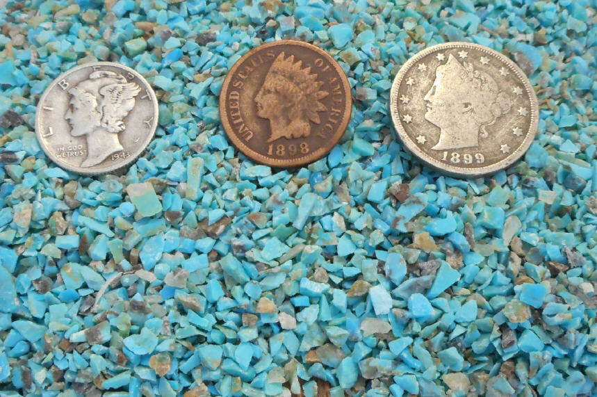 Crushed Gemstone For Inlays : Crushed blue turquoise inlay material ounce natural