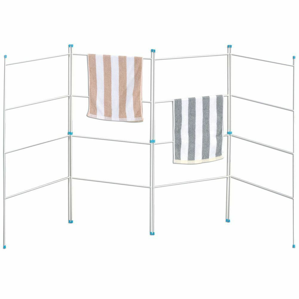 4 Fold Airer Clothes Drying Rack Folding Laundry Horse