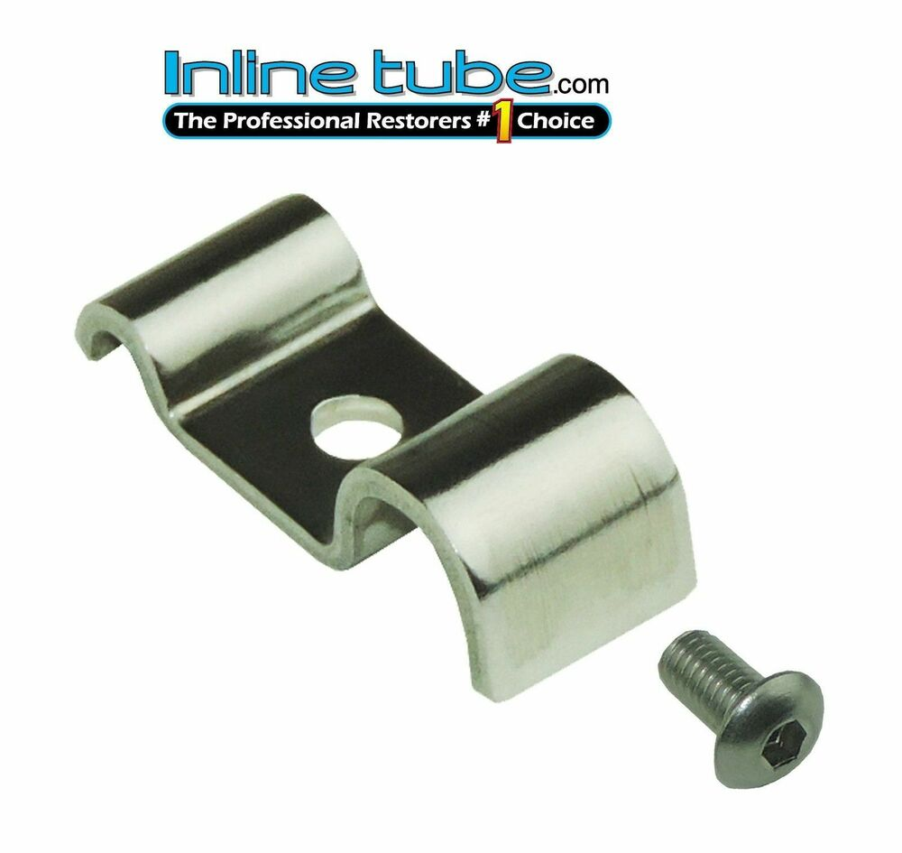 Brake Line Clamps : Quot stainless steel pc brake line clamp screw