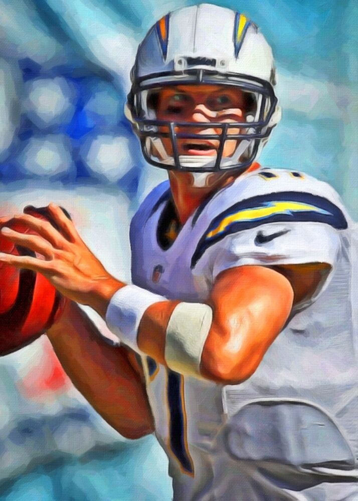 Philip Rivers Limited Edition Art Card 1 Of 49 San Diego
