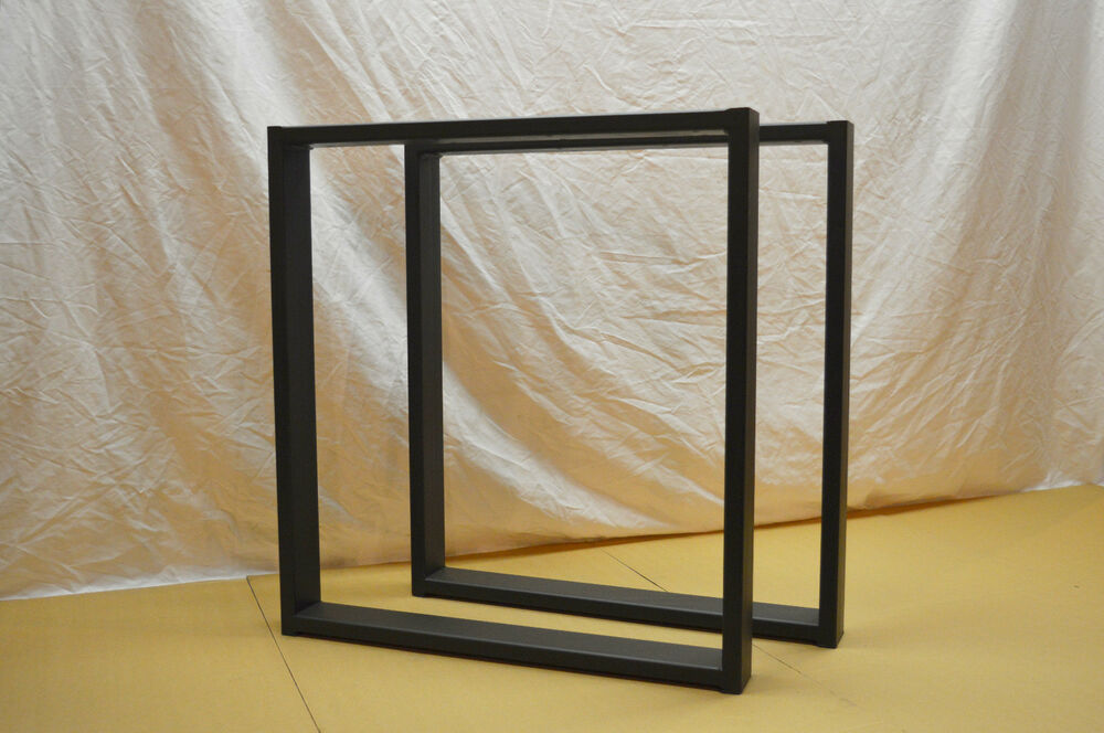 24x27x3 Steel Table Legs Flat Black Square Contemporary Table Legs Dining Ro