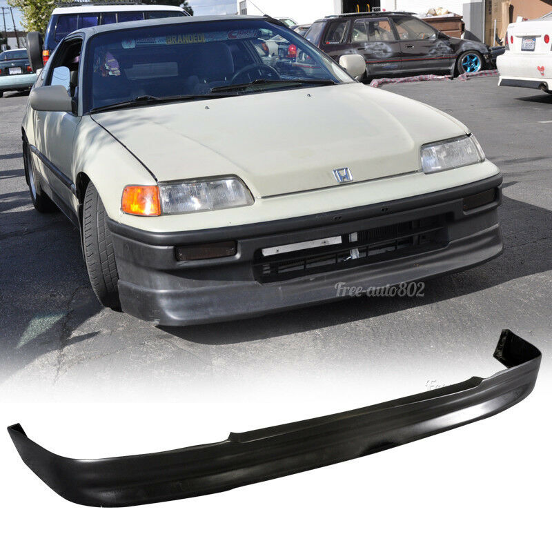 Evo Body Kits >> Fit For 88-89 Honda CRX Coupe CS Style PU Front Bumper Lip Spoiler Polyurethane | eBay
