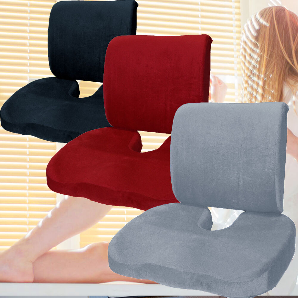 bookishbunny memory foam coccyx orthoped seat pad back. Black Bedroom Furniture Sets. Home Design Ideas