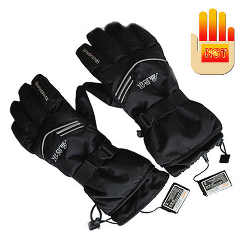 Battery Heat For Outside : Warmspace rechargeable battery heated electric gloves