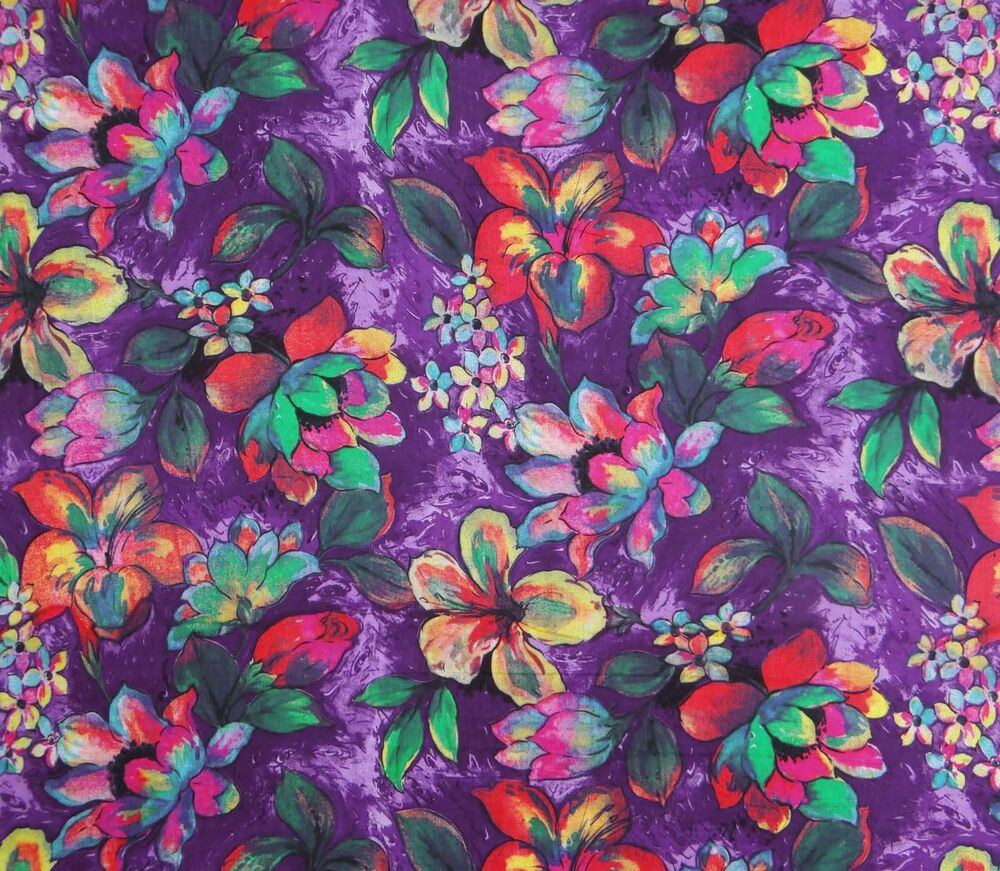 Purple dressmaking cotton floral printed fabric 42 wide for Dressmaking fabric