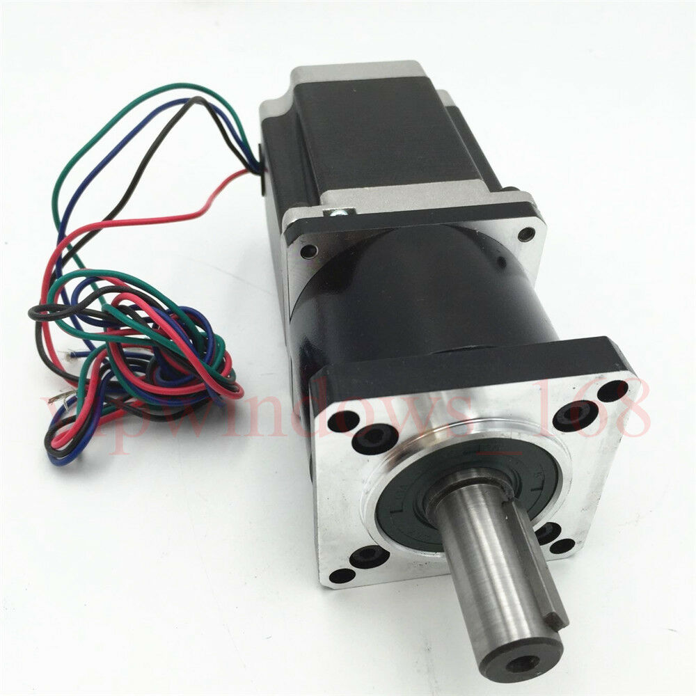 Nema23 gear ratio 5 1 planetary geared stepper motor 3a for Stepper motor gear box