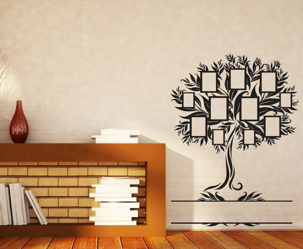 Wall Sticker Family Genealogical Tree With Frames For