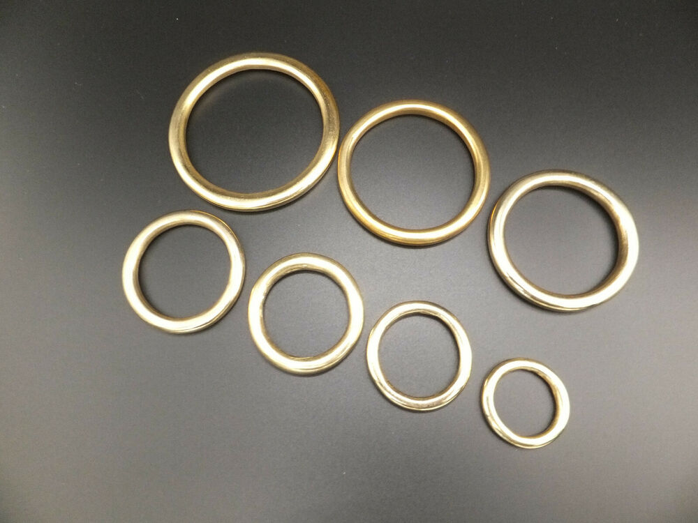 Heavy solid brass o rings leather craft 3 4 to 2 in for 3 inch rings for crafts