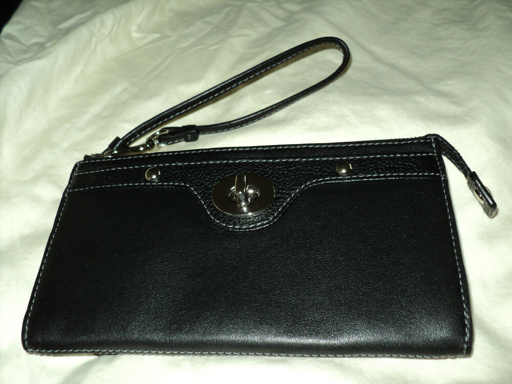 9db4dc3bc2e1 Black Leather Wristlet Wallet | Stanford Center for Opportunity ...