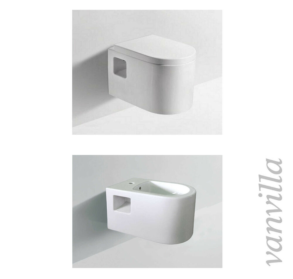 vanvilla design wand h nge wc toilette mit soft close sitz 837 h nge bidet set ebay. Black Bedroom Furniture Sets. Home Design Ideas
