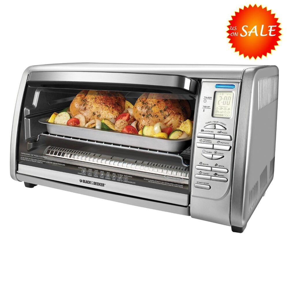 countertop convection oven black decker large xl stainless steel countertop 13078