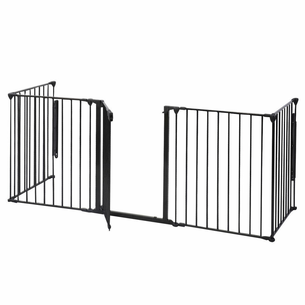Baby safety fence hearth gate bbq metal fire rail
