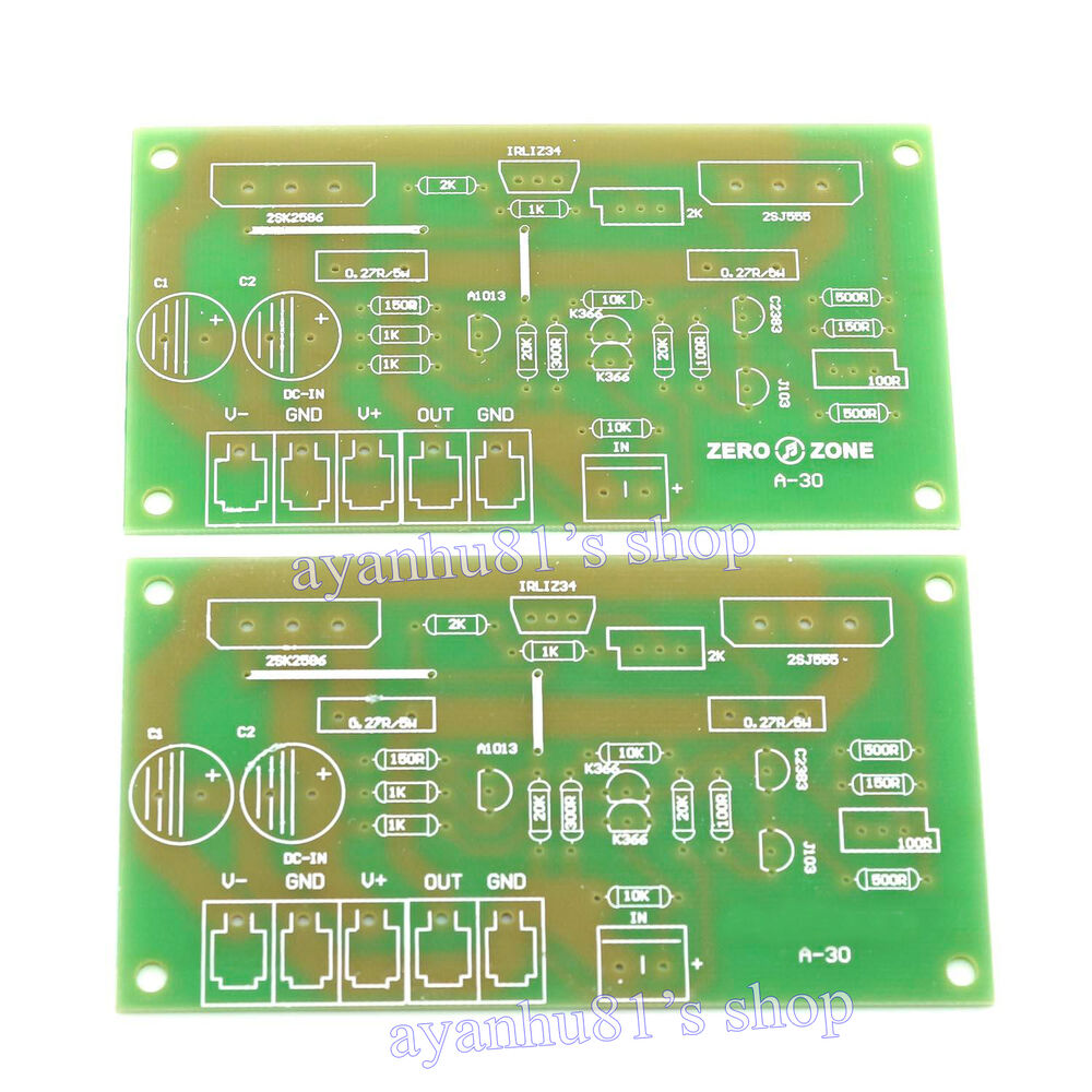 2pcs Dual Channel 30w 2 Class A Mosfet Audio Power Amplifier Board Circuit Amp Bare Pcb 699938609265 Ebay