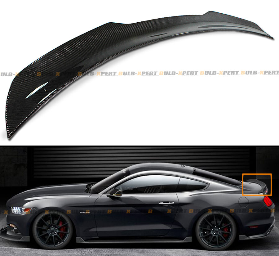 Tt Style Carbon Fiber Rear Spoiler For 2015 2019: For 2015-2019 Ford Mustang GT H Style Carbon Fiber Rear