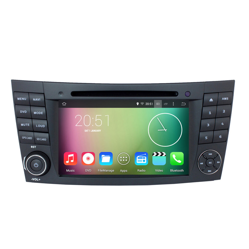 Android 5 1 radio gps navigation dvd for mercedes benz e for Mercedes benz gps
