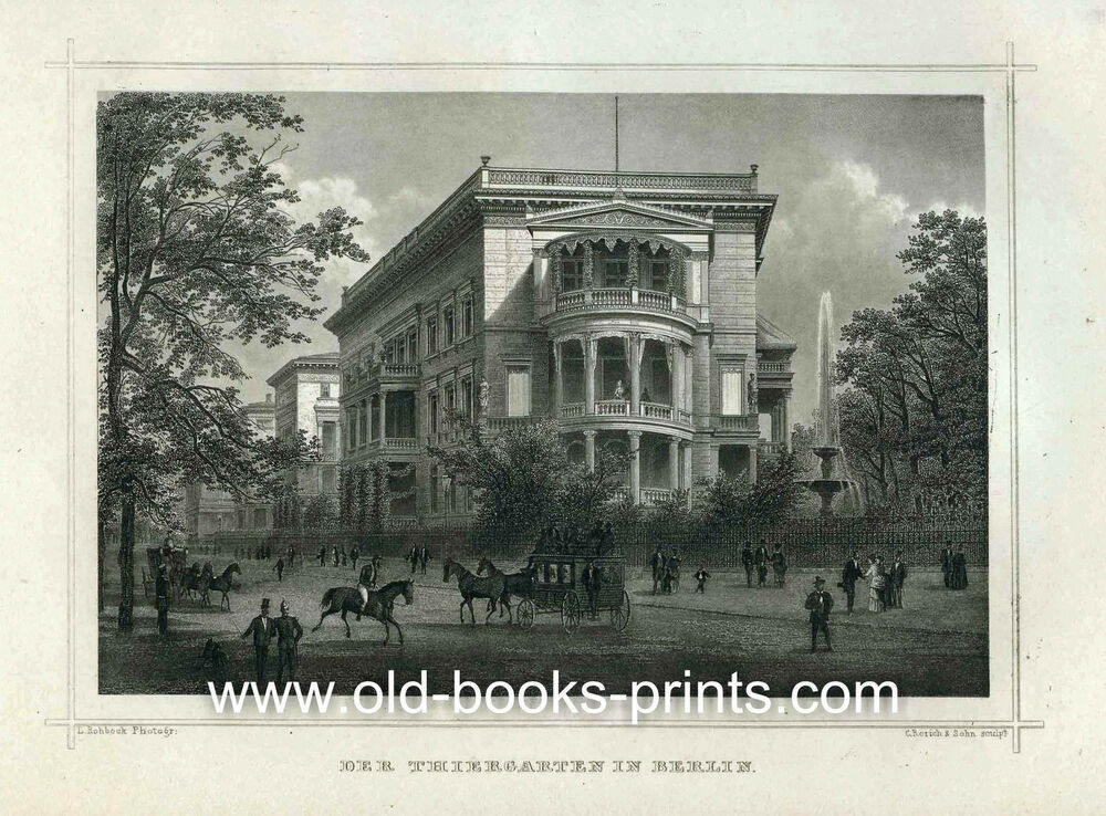 berlin tiergarten sch ne ansicht original 1882 ebay sonderpreis ebay. Black Bedroom Furniture Sets. Home Design Ideas
