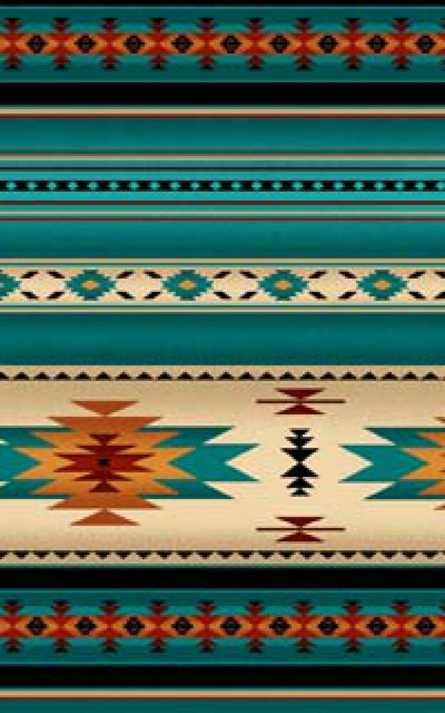 South West Inlay Designs And Patterns : Southwest turquoise orange blanket stripe navaho designs