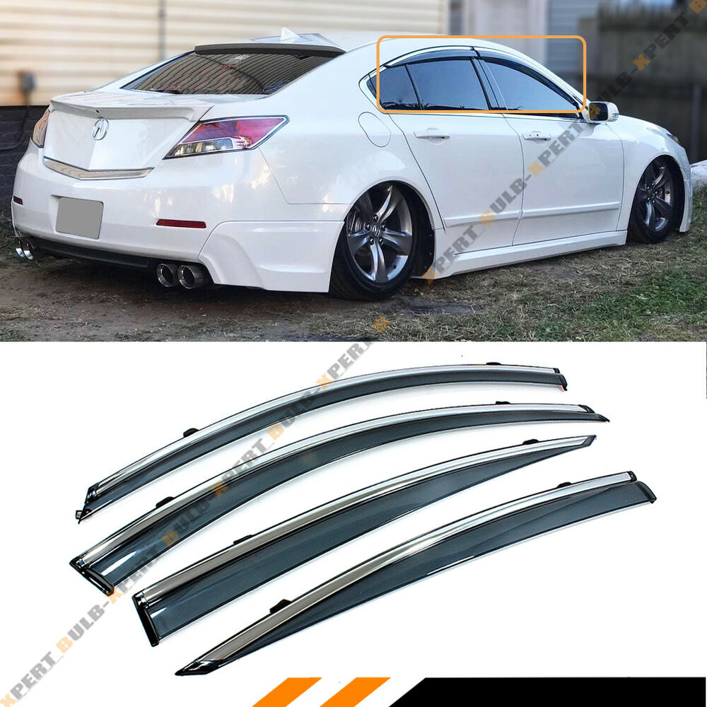 2009-2014 ACURA TL CLIP ON SMOKE TINTED LUXURY SIDE WINDOW