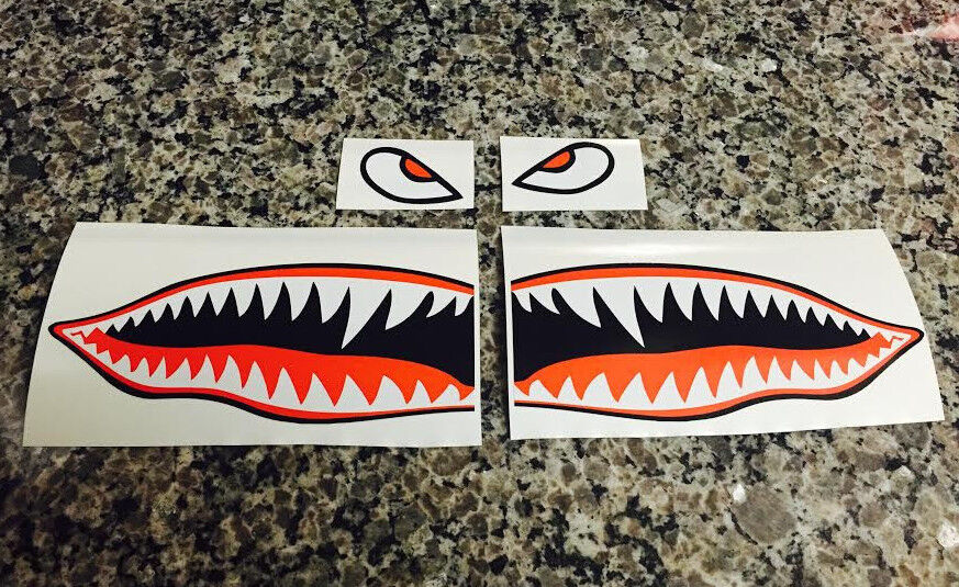 6 Quot Flying Tigers Shark Teeth A 10 Warthog Decals Stickers