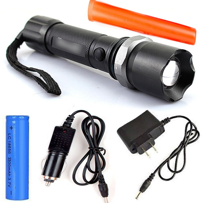 Tactical SWAT Cree Heavy Duty Rechargeable Flashlight XML