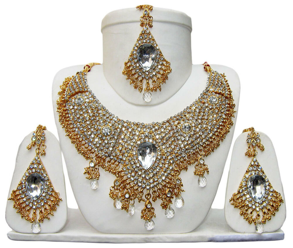 New Indian Bollywood Costume Jewelry Necklace Set Bridal
