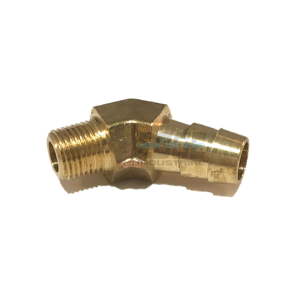 Hose barb male npt brass elbow degree pipe