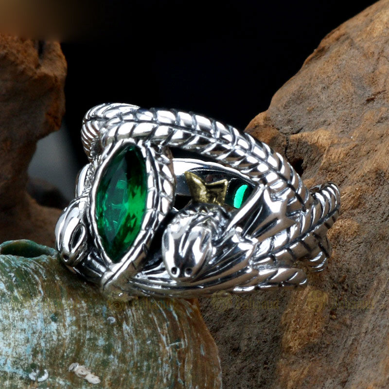 925 Sterling Silver Mens Lotr Aragorn S Ring Of Barahir