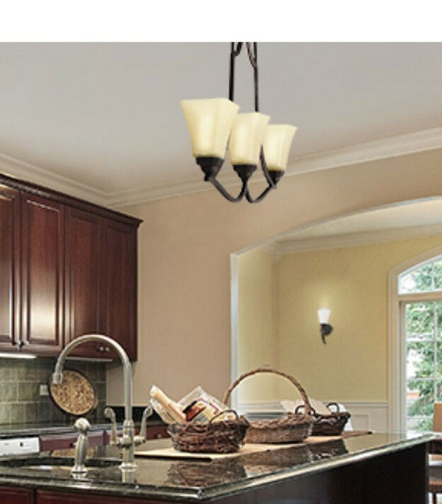New Box 3 Light Kitchen Island Bronze Light Energy Star