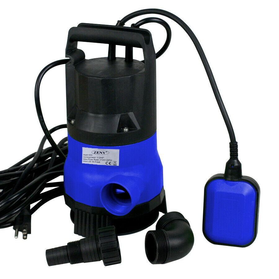 Submersible water pump 1 2 hp 2000gph clean clear dirty for Pond water pump