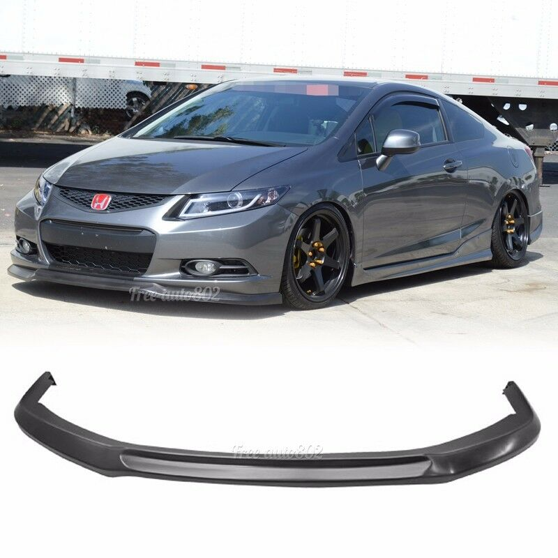 Fit For 2012 2013 Honda Civic Coupe 2D Ikon Style Front Bumper Lip PU   eBay