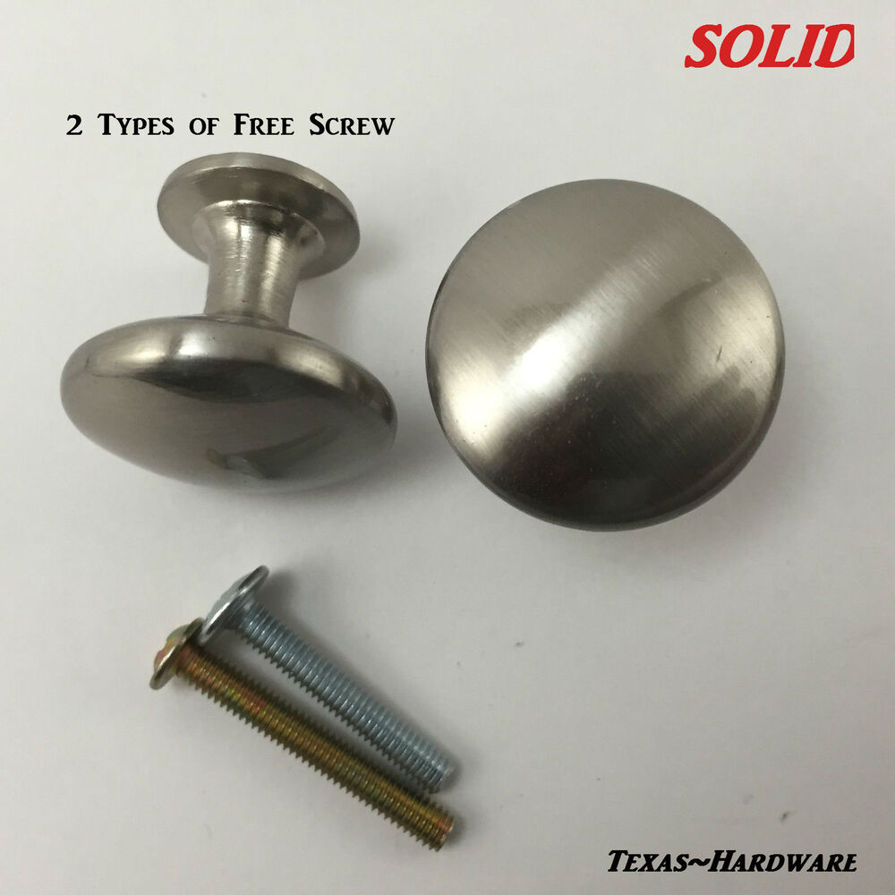 Brushed Satin Nickel Kitchen Cabinet Hardware Knobs Solid Heavy Ebay