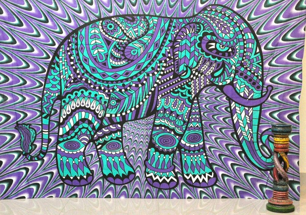 Indian Elephant Wall Hanging Cheap Tapestries Hippie