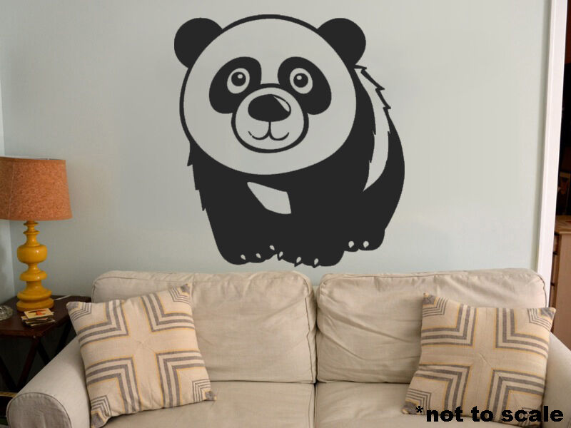 Kids panda interior wall sticker decal vinyl decor play for Panda bear decor