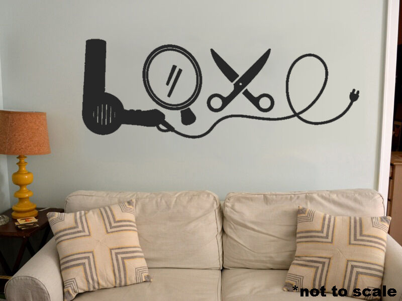 Love cosmetology interior wall sticker decal vinyl decor for Spa wall decor