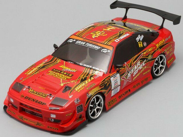 yokomo 1 10 rc car drift body shell dunlop koguchi power nissan 180sx 190mm ebay. Black Bedroom Furniture Sets. Home Design Ideas