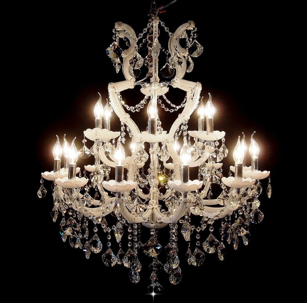 White 18 arms crystal candle chandelier pendant light Crystal candle chandelier