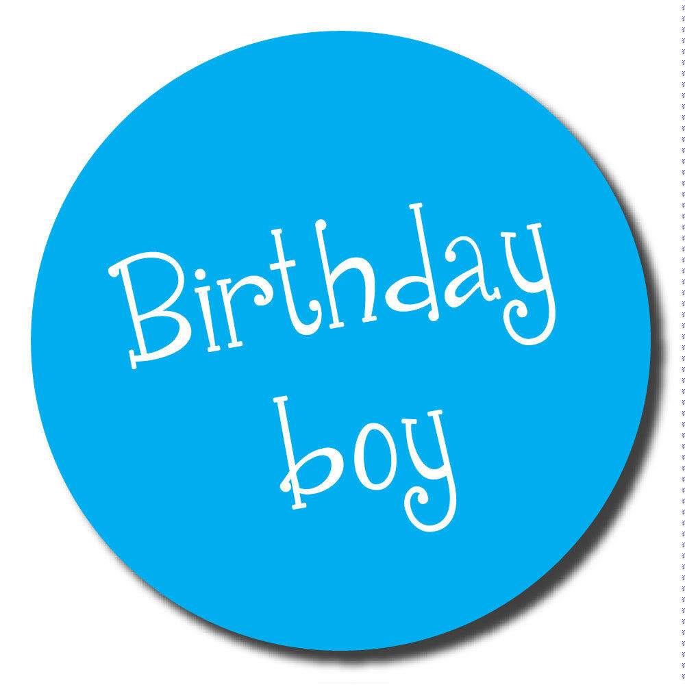 birthday boy stickers 60mm great for party organisers schools