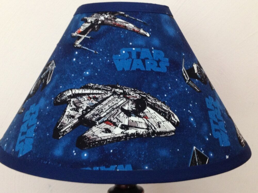 star wars star ships fabric lamp shade ebay. Black Bedroom Furniture Sets. Home Design Ideas