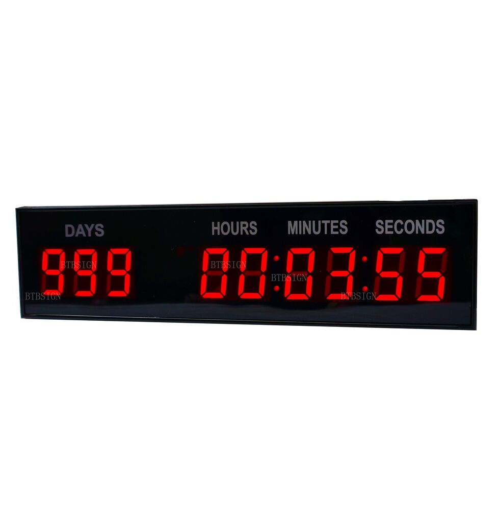 1 8 39 39 led countdown timer digital clock w remote button. Black Bedroom Furniture Sets. Home Design Ideas