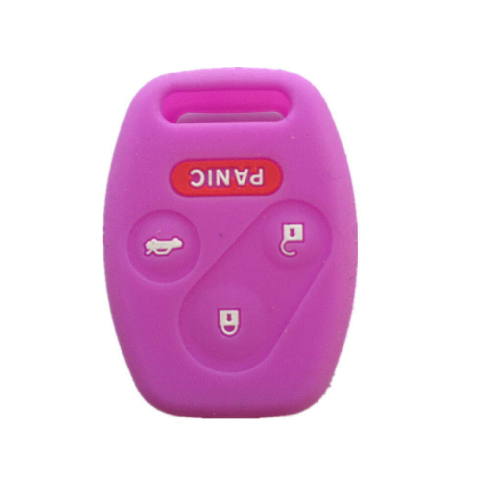 purple silicone keyless remote key fob case skin cover  honda  buttons ebay