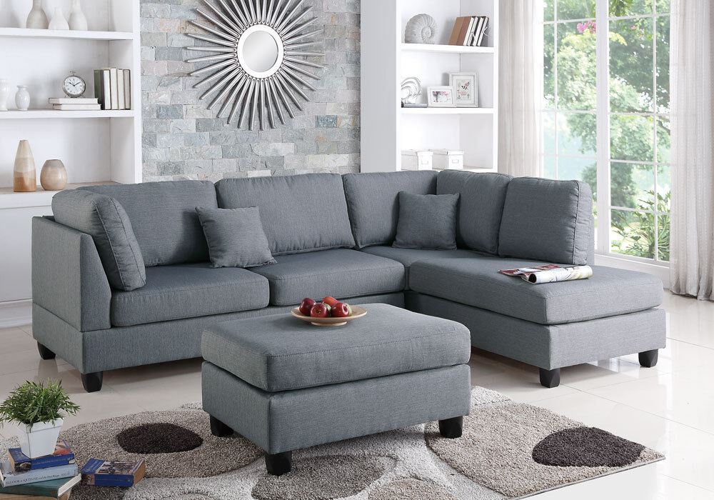 Modern Sectional Sofa Corner Couch Reversible Chaise