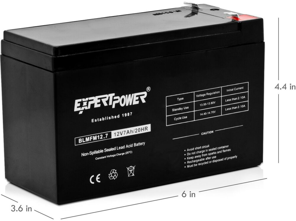 expertpower exp1270 12v 7amp rechargeable universal sealed. Black Bedroom Furniture Sets. Home Design Ideas